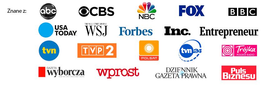 Zobacz go też w ABC, CBS, NBC, FOX, BBC, USA Today, Wall Street Journal, Forbes, The Telegraph